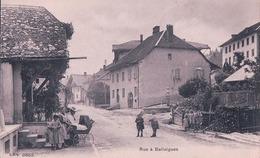 Ballaigues VD, Enfants Et Pousette + Tampon Hôtel Pension Aurore, M. Doy - Conod (cpn 3852) - VD Waadt