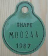 Plaque Vélomoteur  SHAPE 1987 - Kennzeichen & Nummernschilder