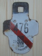 Plaque Vélo  Province De Luxembourg 1920 - Plaques D'immatriculation