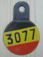 Plaque Vélo Militaire Belge - Number Plates