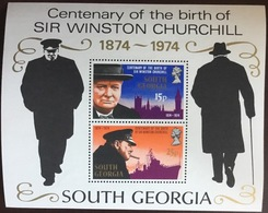 South Georgia 1974 Churchill Minisheet MNH - Südgeorgien
