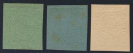 II Emissione - Prove Definitive Di Colore Della Serie Su Carta Non Gommata - Sardinien