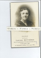 LOUISE RIVIERE ° KOEKELARE 1867 + IXELLES ( ELSENE ) 1941 - Devotieprenten