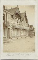 80 - LE CROTOY - Rue Des Chalets, Une Villa. Carte-photo Ayant Circulé En 1907. - Le Crotoy