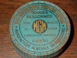 Boite En Tôle MGM - 100 Amorçages Fermés Longs - Rouge Paillonnés - Scatole