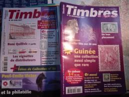 25 REVUES TIMBRES MAGAZINE TRES BON ETAT - Riviste: Abbonamenti
