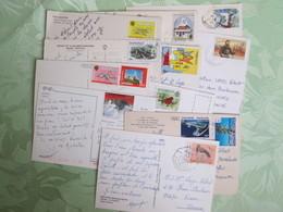 Lot De 70 Cartes Postales Avec Beaux Timbres  Oceanie Et Autres - Sellos