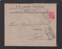 BAHNPOST/AMBULANT: BETTINGEN-ETTELBRUCK. WOLLMANUFACTUREN EN GROS,ETTELBRÜCK & ST. JOHANN AN DER SAAR. - 1895 Adolphe De Profil