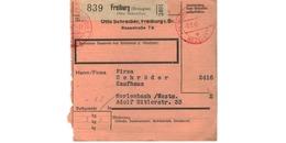 Allemagne  - Colis Postal  Départ Freiburg -- 3/2/1943 - Germany