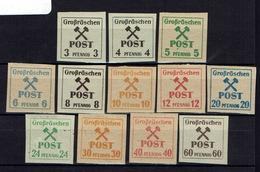 Allemagne - Grossraschen - Emission Locale Non Dentelés - N° 31-42 - Neufs - X - Traces Très Légères - B/TB - - Zone Soviétique