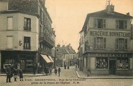 VAL D'OISE  ARGENTEUIL  Rue De La Chaussée - Argenteuil