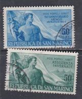 Saint-Marin N° 411 / 12 O Les 2 Valeurs Oblitérations Moyennes Sinon TB - Saint-Marin