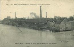 VAL D'OISE  ARGENTEUIL Le Quai De Seine CRUE JANVIER 1910 - Argenteuil