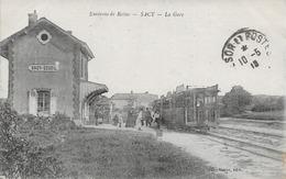 Sacy La Gare Carte En Bon état - Autres Communes