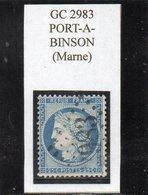 Marne - N° 60A Obl GC 2983 Port-à-Binson - 1871-1875 Cérès
