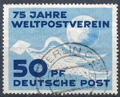 """DDR 1949: ERSTE DDR-MARKE """"75 Jahre UPU"""" (Brieftaube Vor Globus) Michel-No.242 Mit O BERLIN 20.1.51 (Michel € 24.00) - U.P.U."""