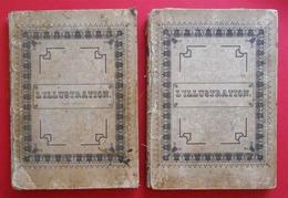 RARE 1843-1844 L'Illustration Tome 1 & 2 Reliés Carton N°1 (mars 1843) à 26 Et 27 à 52 (février 1844) Dedans Très Propre - Books, Magazines, Comics