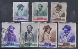 Saint-Marin N° 437 / 43 X, O 150ème Ann. Naissance Garibaldi. Les 7 Valeurs Oblitérées Ou Trace De Charnière Sinon TB - Oblitérés