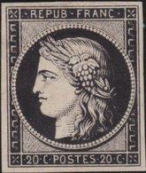 France  .   Yvert   .     3  (2 Scans)  .        (*)          .       Pas De Gomme  .   /   .     No Gum - 1849-1850 Cérès