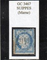 Marne - N° 60C Obl GC 3467 Suippes - 1871-1875 Cérès