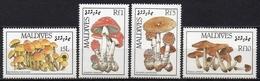 Maldives - 1986 - Yvert N° 1106 à 1109 **  - Flore, Champignons - Maldives (1965-...)