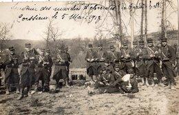CORCIEUX SOUVENIR DES MARCHES D'EPREUVES LA GRAND HALTE EN 1913 CARTE PHOTO - Corcieux