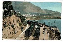 CPA-Carte Postale - Monaco Trains En Gare De  Monte Carlo   VM6123 - Monte-Carlo