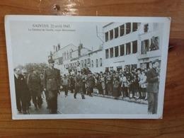 CPA Saintes 22 Avril 1945 Le Général De Gaulle, Cours Reverseaux La Libération - War 1939-45