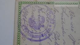 D167319 Austria Military Handstamp -K.u.K. Inf.t. Regmt. No.82 -4.Feldkompagnie To Tusnádfürdő - Russland Russia 1917 - Militaria