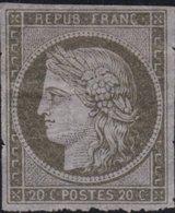 France  .   Yvert   .     3c Ou Essai ?  Papier Mince  (2 Scans)  .     (*)    .     Pas De Gomme  .   /   .     No Gum - 1849-1850 Cérès