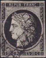 France  .   Yvert   .     3       .     O          .       Oblitéré - 1849-1850 Cérès
