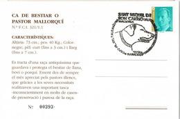 33814. Tarjeta Exposicion SANT MIQUEL De SON CARRIÓ (Mallorca) Baleares 1994. Perros, Dog, Expo Canina - 1931-Hoy: 2ª República - ... Juan Carlos I