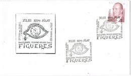 33815. Carta Exposicion FIGUERAS (Gerona) 2002. Dalí, Pintura, Teatro Museo - 1931-Hoy: 2ª República - ... Juan Carlos I