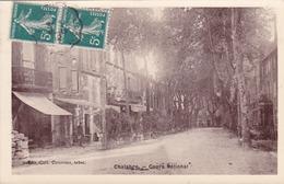 CPA 11 @ CHALABRE En 1912 - Carte Glacée - Cours National Devant Le Grand Café - Autres Communes