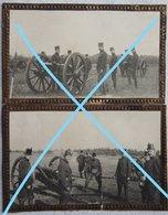 Photox2 ABL Pre 1914 Canon Geschütz Artillerie Militaria Armée Belge Belgische Leger - Guerre, Militaire