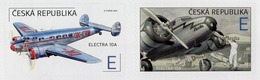 Czech Republic - 2019 - The World In Clouds - Electra 10A Airplane - Mint Self-adhesive Booklet Stamp Set - Nuovi