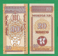 MONGOLIA - 20 MONGO – 1993 – UNC - Mongolia