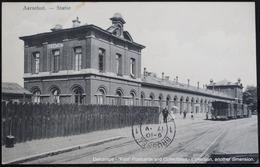 AARSCHOT Aerschot Statie  Trein Gare Station Train 1912 Uitg. Tuerlinckx Boeyé - Aarschot