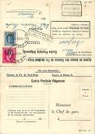 Belgique. S16 (Houyoux)  + S29  Namur 1 > Verviers  Trouvé à La Boîte  1942  Formulaire Nord-Belge Réutilisé Par La SNCB - Dienstpost