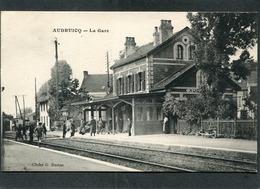 CPA - AUDRUICQ - La Gare, Les Quais, Les Voies, Animé - Audruicq