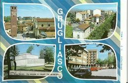 """5134 """" GRUGLIASCO-4 VEDUTE """"-PROVA DI STAMPA DELL'EDITORE """" ORIG. - Altre Città"""