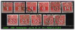 Österreich - Aus Portomarken 34 - 44 X - Portomarken
