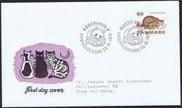 Denmark 1975; Animal Protection - WWF.  FDC With Cats And Panda Postmark - FDC