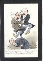 CPA Bobb Satirique Caricature Non Circulé Dessin Original Fait Main Rouvier Caillaux Impots - Satirical