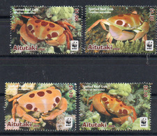 AITUTAKI   Timbres Neufs **  De 2014 (ref 6702 ) Animaux - Crabes WWF - Aitutaki