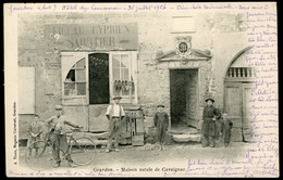 Gourdon Maison Natale De Cavaignac Avec Gros Plan Sur La Vitrine D'un Sabotier. Carte écrite Au Recto Et Ayant Voyagé. - Gourdon