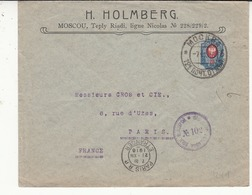 RUSSIE  Lettre De 1916 Vers Paris 2 Scan  Censure - 1857-1916 Impero