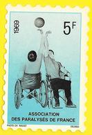 Assoc. Des Paralysés De France 1969 5f (Raulet Delrieu) - Organisations