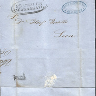 J) 1863 MEXICO, 1 REAL, OVAL CANCELLATION, CIRCULATED COVER FROM FRANCO EN GUANAJUATO TO LEON - Mexico
