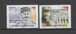 FRANCE / 2018 / Y&T N° 5288/5289 ** : Roumanie-France (2 TP Général Berthelot) - Gomme D'origine - France
